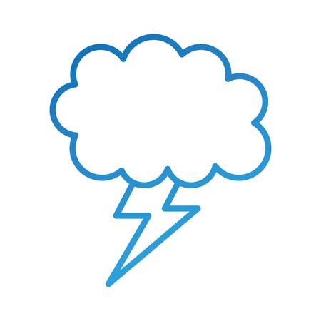 cartoon lightning bolt and cloud weather vector illustration