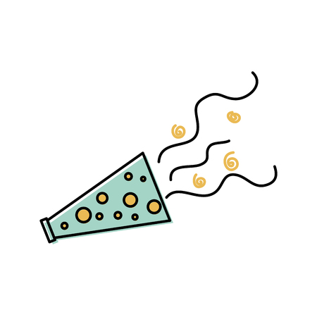 party horn blower confetti celebration birthday vector illustration Illustration