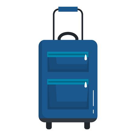 suitcase travel isolated icon vector illustration design Banco de Imagens - 88544585