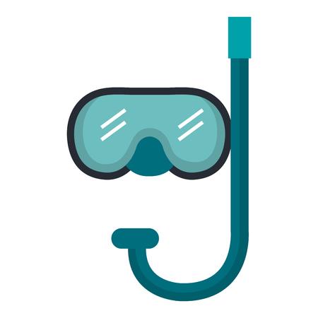 シュノーケル ダイビング分離アイコン ベクトル イラスト デザイン