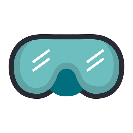 snorkel goggles diving isolated icon vector illustration design