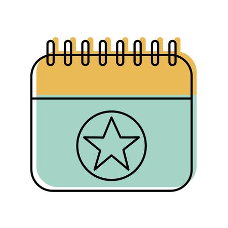 birthday calendar planning party celebration vector illustration Stock Vector - 88544735