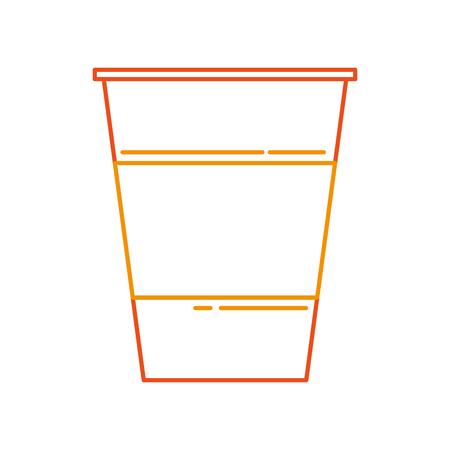 플라스틱 컵 음료 음료 생일 파티 벡터 일러스트 레이션