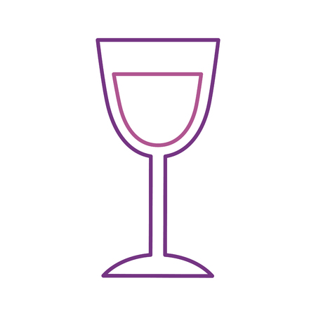 birthday wine glass drink toast celebration vector illustration Иллюстрация