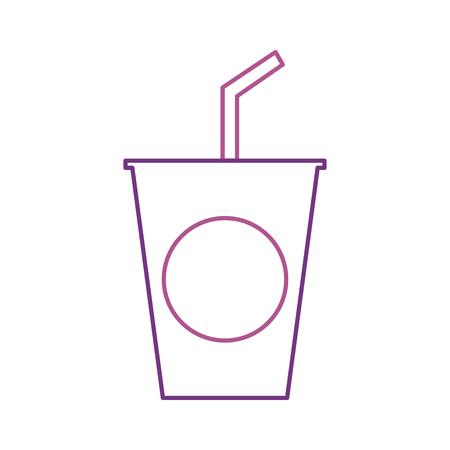 使い捨てのプラスチック カップ ソーダわら誕生日ドリンク ベクトル イラスト  イラスト・ベクター素材