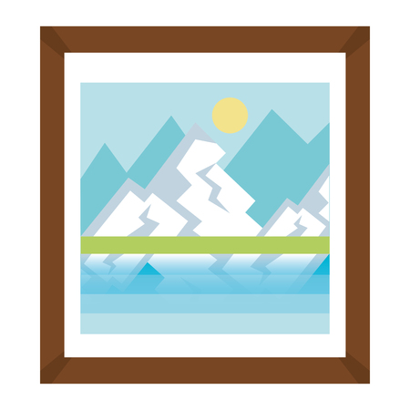 landscape painting isolated icon vector illustration design 向量圖像