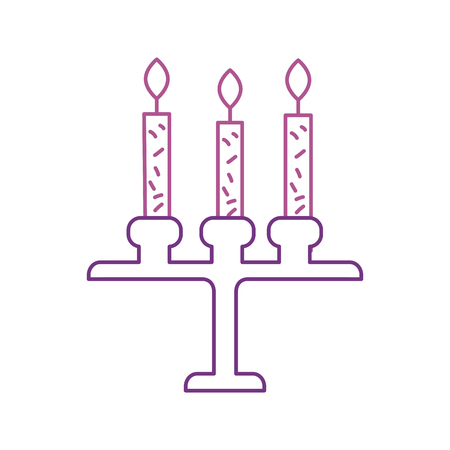 verjaardag kroonluchter met kaarsen decoratie sieraad ontwerp vectorillustratie Stock Illustratie