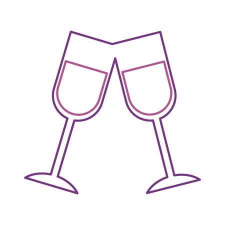 Champagne toast tazze compleanno festa celebrazione illustrazione vettoriale Archivio Fotografico - 88544118