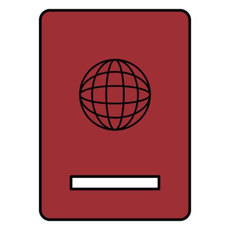 Progettazione dell'illustrazione di vettore dell'icona isolata documento del passaporto Archivio Fotografico - 88544959
