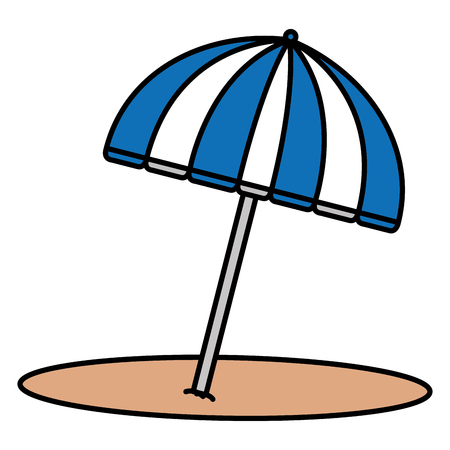 beach umbrella isolated icon vector illustration design 版權商用圖片 - 88544279