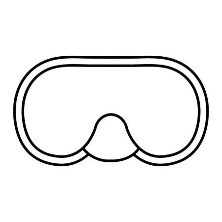 スノーケル ゴーグル ダイビング分離アイコン ベクトル イラスト デザイン
