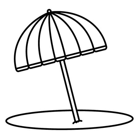 해변 우산 아이콘 벡터 일러스트 디자인