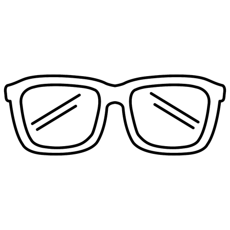 Eye glasses icon vector illustration design