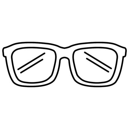 Ontwerp van de het pictogram het vectorillustratie van oogglazen Stockfoto - 88617269