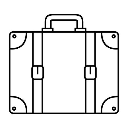 suitcase travel isolated icon vector illustration design Banco de Imagens - 88546062