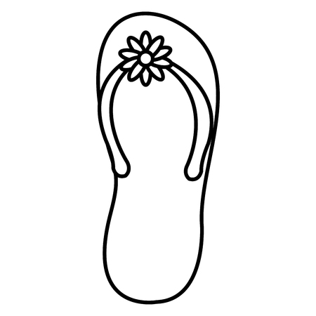flip flop isolated icon vector illustration design