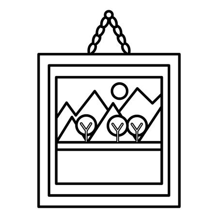 landscape painting isolated icon vector illustration design Illustration