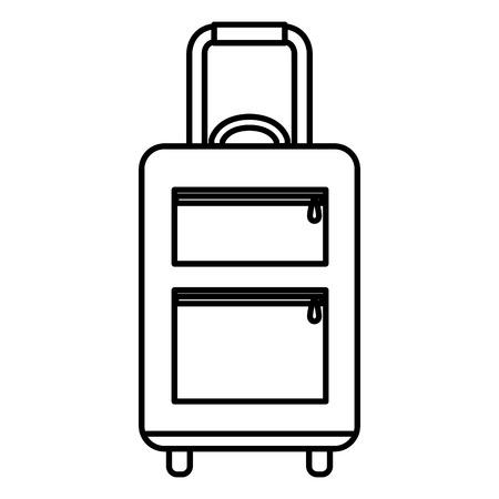 Voyage valise icône isolé design illustration vectorielle Banque d'images - 88546997