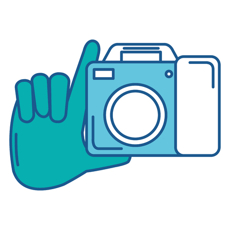 hand with camera photographic vector illustration design Stok Fotoğraf - 88547354