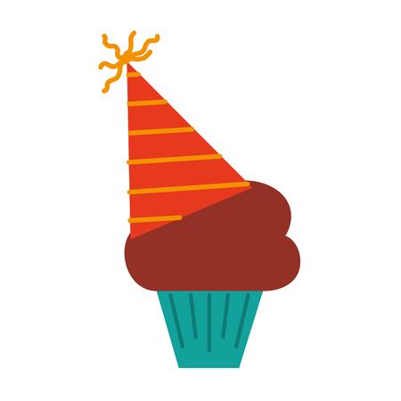 Birthday cupcake icon. Ilustração