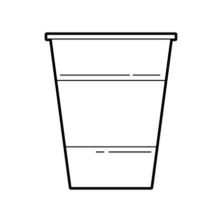 copo de plástico bebida bebida festa de aniversário ilustração vetorial