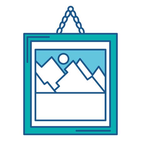 Landscape icon. Illustration