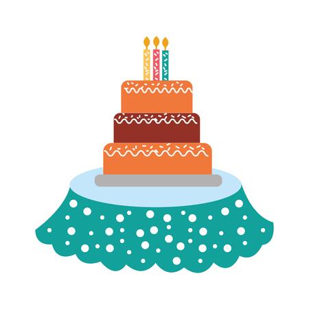 誕生日のケーキの蝋燭のアイコン。 写真素材 - 88563264