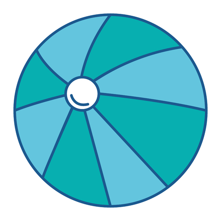 Beach balloon plastic icon vector illustration design. Illustration