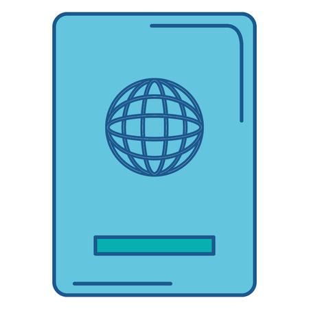 パスポートのテンプレートです。  イラスト・ベクター素材