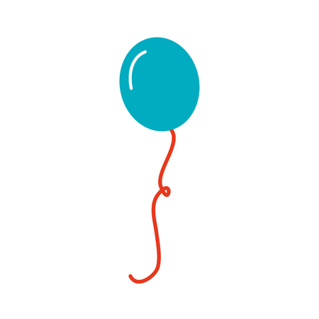 パーティやお祝いのベクトル図のフライング誕生日バルーン