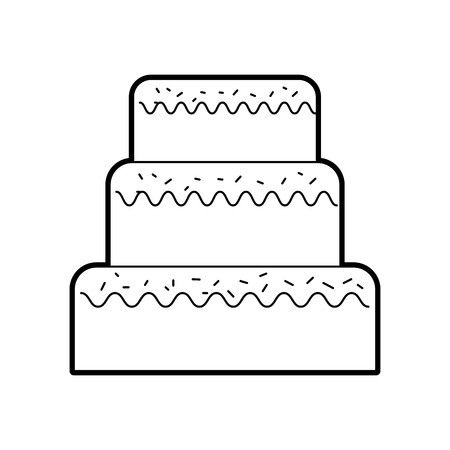 誕生日ケーキのアイコン。