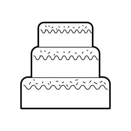 생일 케이크 아이콘.