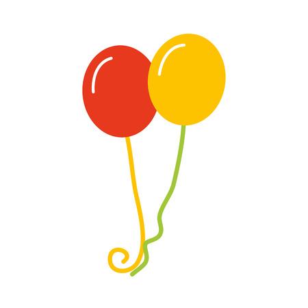 パーティーやお祝いのベクトル図のフライング誕生日風船の束