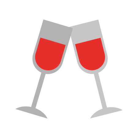 Champagne toast icon. Illustration