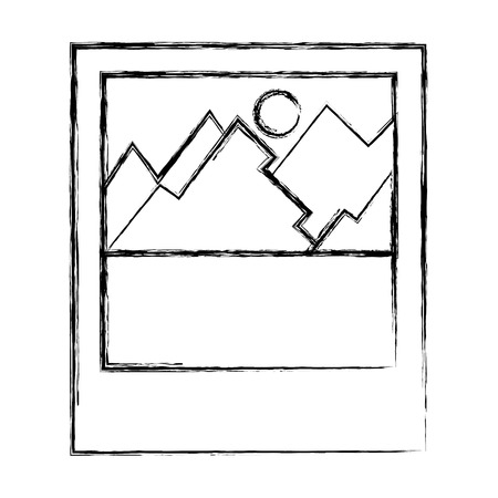 Landscape icon. 向量圖像