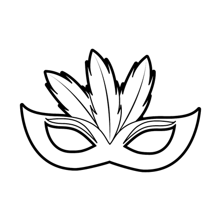 Feather mask icon.