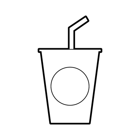 Plastic cup icon.