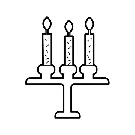 생일 샹들리에 촛불 아이콘입니다.