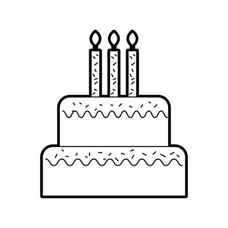 誕生日のケーキのキャンドルを燃焼甘いおいしいベクトル図 写真素材 - 88548799