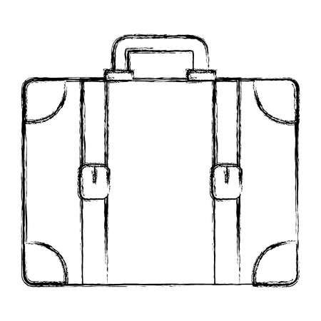 suitcase travel isolated icon vector illustration design Banco de Imagens - 88548866