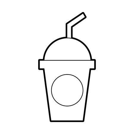 ドームとわらのお祝いベクトル図とプラスチック製のソーダ