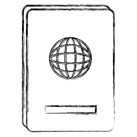 Documento di passaporto isolato illustrazione vettoriale icona Archivio Fotografico - 88550528