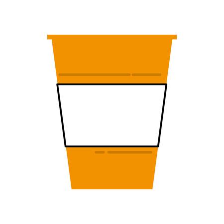Plastic cup beverage drink birthday party vector illustration Çizim