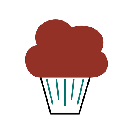 誕生日甘いカップケーキデザート食品おいしいベクトル。