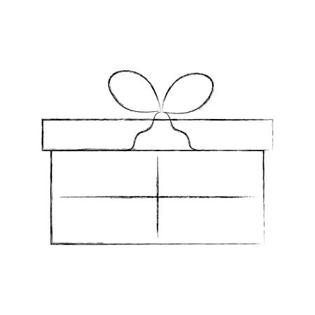birthday gift box wrapped ribbon decoration vector illustration