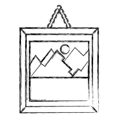 Peinture de paysage isolé icône vecteur illustration design Banque d'images - 88621526