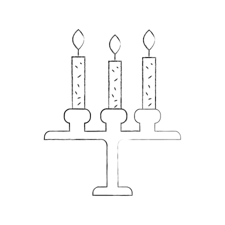 birthday chandelier with candles decoration ornament design vector illustration Иллюстрация