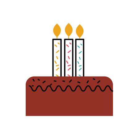 birthday cake with three candles celebration event vector illustration Stock fotó - 88667943