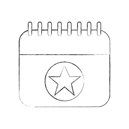 birthday calendar planning party celebration vector illustration