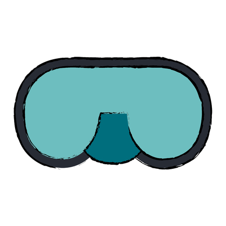 snorkel googles diving isolated icon vector illustration design